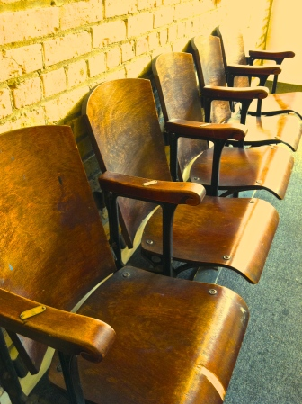 Old theater or stadium seats