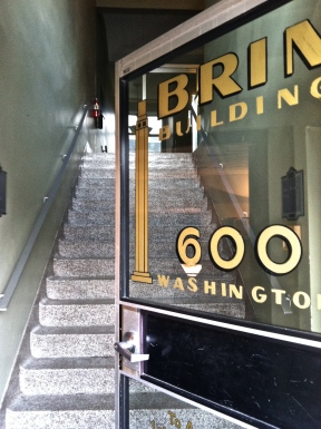 Brin Building front door