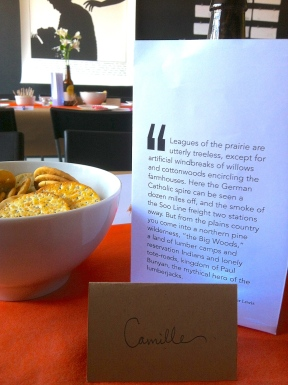 No dinner party is complete without crackers, quotes, and place cards