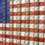 American flag made out of mousetraps, which I'm sure will rile up some folks