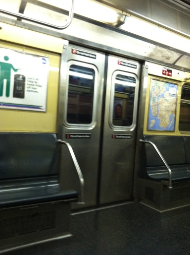 But seriously, wait until rush hour. Empty subway cars do not good eavesdropping make.