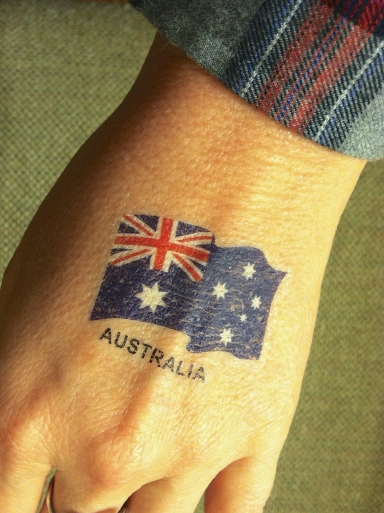 Australian tattoo + flannel shirt = not in Australia