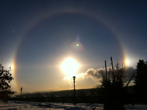 February 6: Sun dog lacking heat