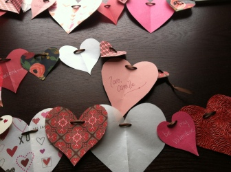 Handmade garland cards