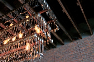 Utensil chandelier