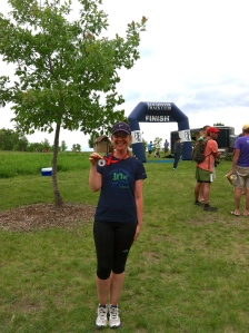 I'm only smiling because it's ridiculous I won my age group. Someone good didn't show up or had her knees bashed in.