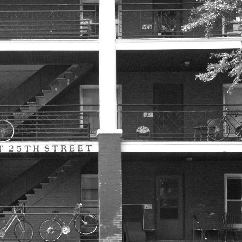 25 East black and white