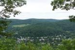 Climb up Mount Tom -- Woodstock view