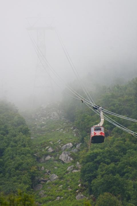 Tram ascending