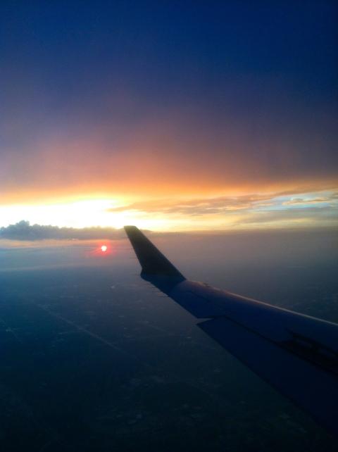 Sunset from 30,000 feet