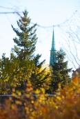 Hamline Methodist Church spire