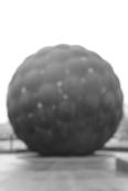 Sphere, B&W, unfocused
